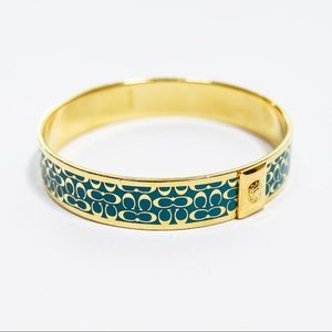 Coach Gold and Blue Bracelet Bangle